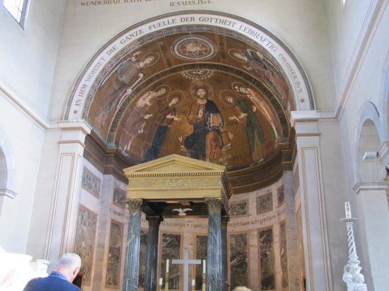 Potsdam Friedenskirche : Il mosaico sopra l'altare