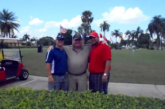 Doral Resort - Gold Golf Course: My sons and I at Doral