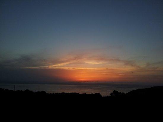 Trevedra Farm Caravan and Camping Site: sunset