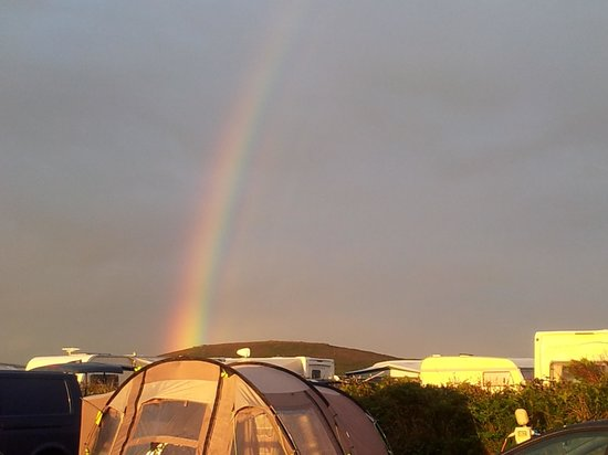 Trevedra Farm Caravan and Camping Site: rainbow