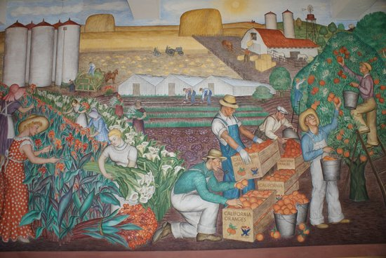 Coit tower wpa mural farm workers foto di coit tower for Coit tower mural