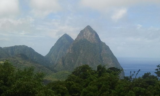 Crystals St Lucia: view from cottage balcomny