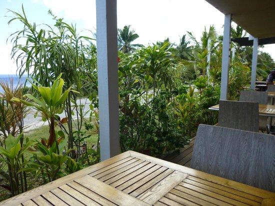Falala Fa: View across the road to the sea