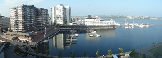 Residence Inn Kingston Water's Edge: View from the 8th floor overlooking the harbour