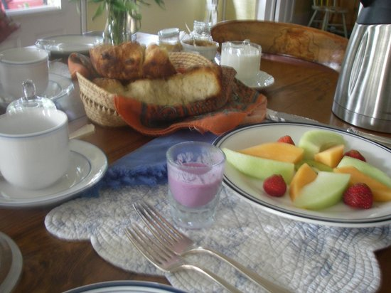 The Miller's House Bed and Breakfast : Homemade breakfast