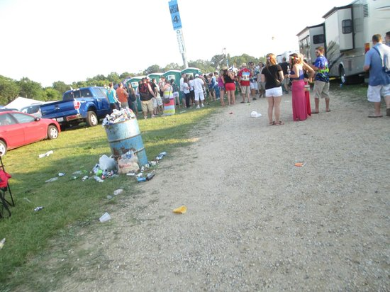 Alpine Valley Music Theatre: +2 Hours to Concert and the Single Garbage Can Overflowing