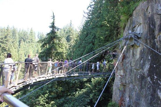 North Vancouver, Canada: Passarela sobre o rio...incrível!