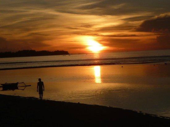 Mirage Sunset Bar: Sunset north of Gili Trawangan