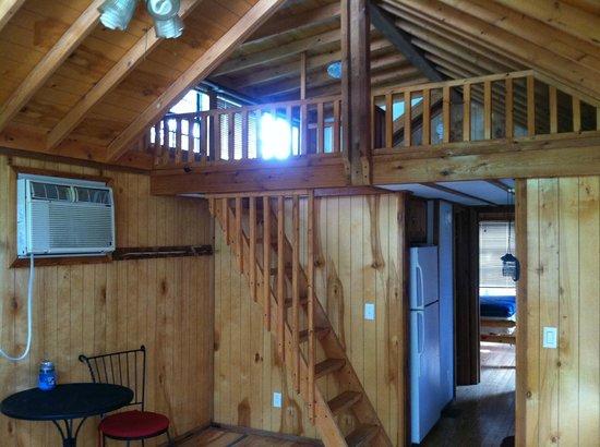 Devils Tower KOA: loft of our cabin