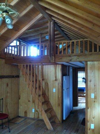 Devils Tower KOA: loft in our cabin