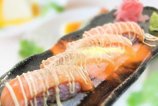 Musashi Japanese Cuisine - St Heliers: Aburi Salmon Nigiri Sushi