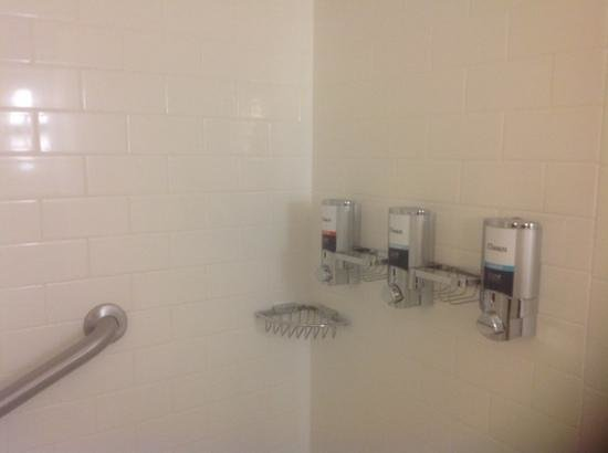 Four Points by Sheraton Bangor Airport: shower had dispensors instead of bottles for soap and shampoo.