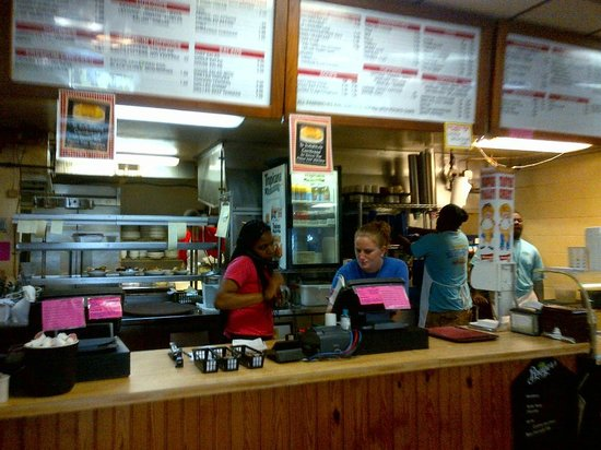 Sting-Ray's Restaurant: Counter where you place your order.