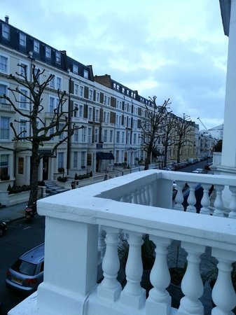 What a view - early morning, Earls Court from Windsor House Hotel