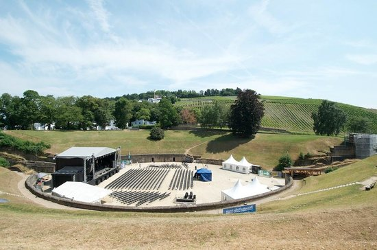 Amphitheater: getting set up for a concert