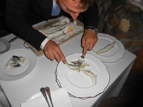La Posta Vecchia Hotel: Sea bass cooked in salt crust