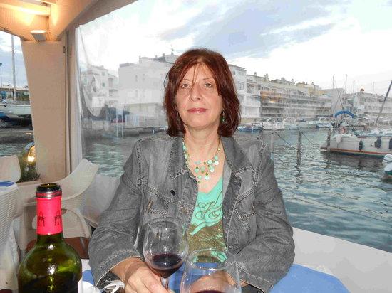 Restaurant Aquario Nou: Hafenausfahrt mit meiner Frau