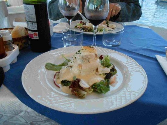 Restaurant Aquario Nou: Bouchée aux fruits de mer
