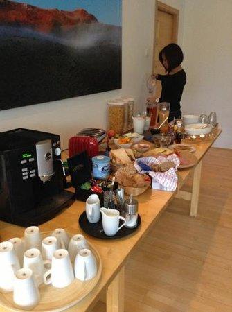 breakfast at Volcano Hotel