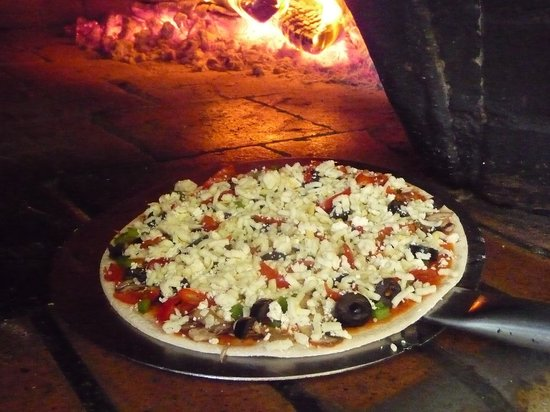 The Skaf'Tin Pizzeria & Take-Away: Our wood-fired pizza oven