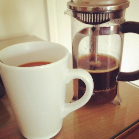 Calder Bridge, UK: A welcome arrival coffee in the room
