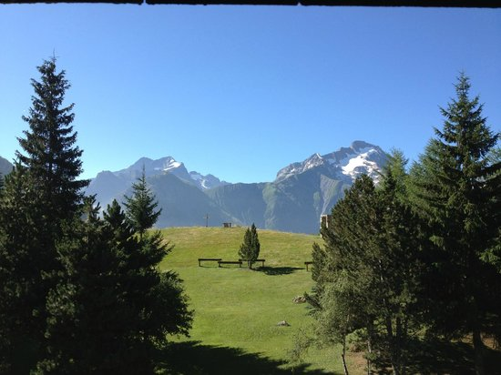 Hotel Chalet Mounier: view from my window