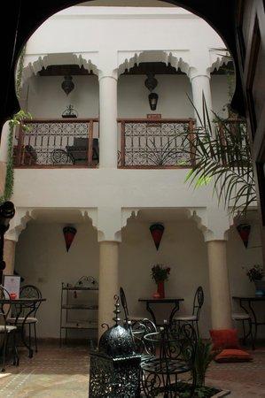 Riad Dar Saba: Le patio vu de la chambre