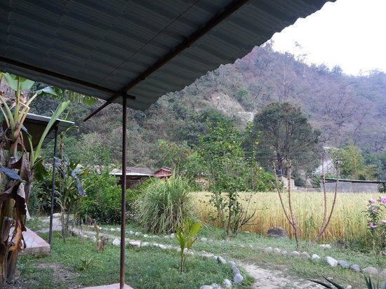 Rishikesh Valley: view outside our room