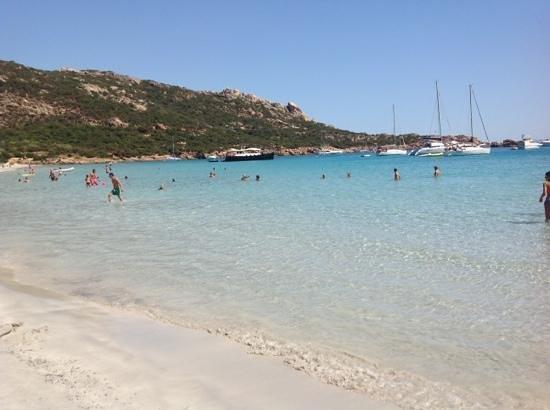 Roccapina Beach : peccato le barche...