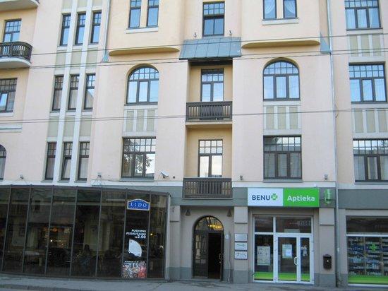 Rigaapartment Gertruda: Fachada principal edificio apartamentos