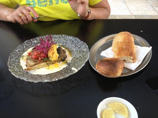 Herzl: eggplant appetizer