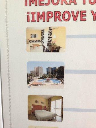Sol Lunamar Apartments: Из листовки в отеле. Два типа комнат.