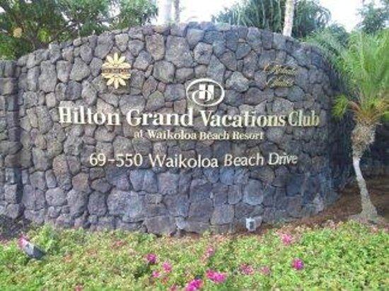 The Bay Club at Waikoloa Beach Resort: 入口。ここからフロントで受付