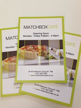 Matchbox Cafe: menues