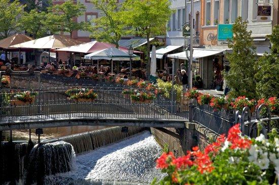 Saarburg Waterfall: Sunday dining