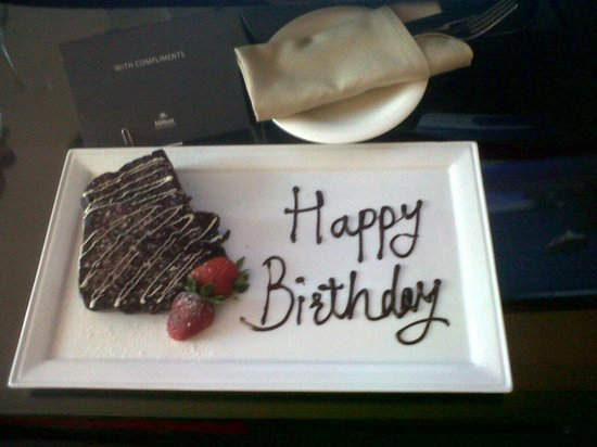 Birthday Cake Delivered To My Room