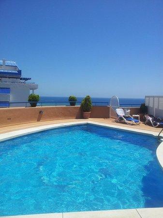 Princesa Playa Hotel Apartamentos: Pool and sea view