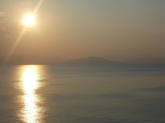 Dimitra Studios: View from balcony early morning