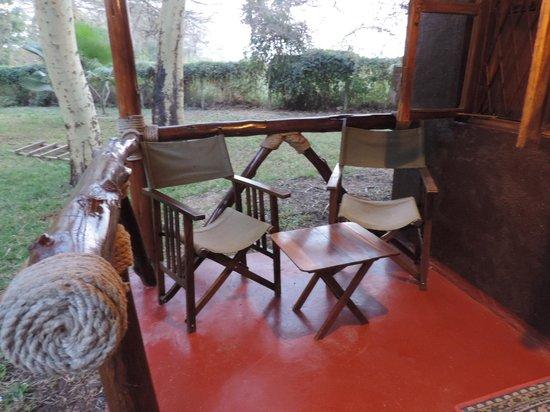 Nsya Lodge & Camp: Balcony area