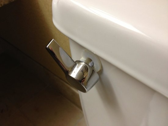DoubleTree by Hilton Kansas City - Overland Park : Broken toilet handle