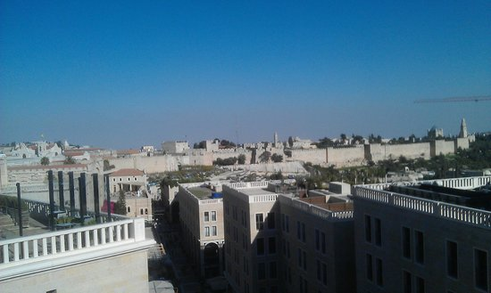 Mamilla Hotel : view from rooftop balcony