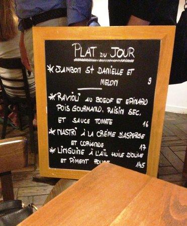 Olio Pane Vino : Daily menu