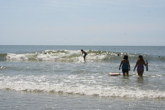 Surfing At The Cherry Grove Pier