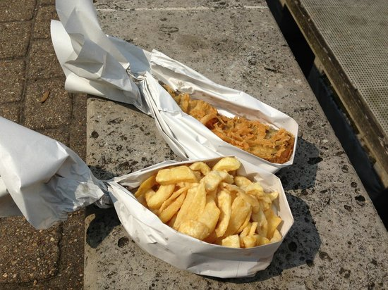 """The Seagull : Haddock and chips - """"open"""""""