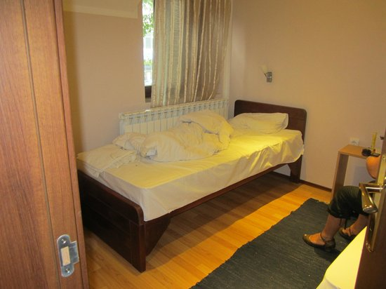 Apartments & Accommodation Novi Sad Stojic : Wooden hand made beds with a very thick, comfortable matresse