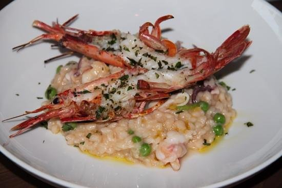V's restaurant + bar: santa barbara shrimp risotto