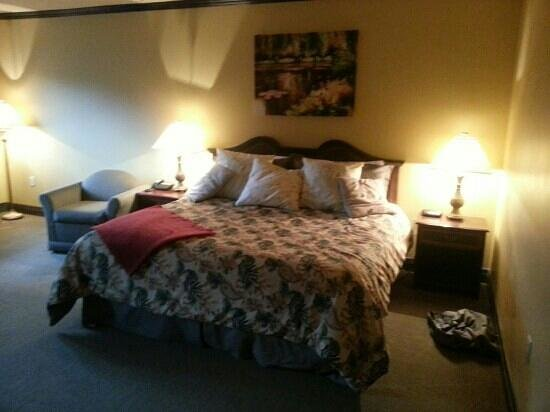The Falls Inn & Spa: A nice bed.