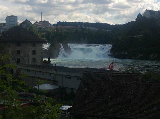 Rheinfall : Vista dalla stada del parcheggio