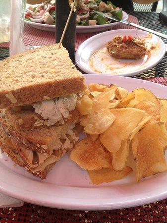 Bistro on Main: Turkey, apple, brie sandwhich