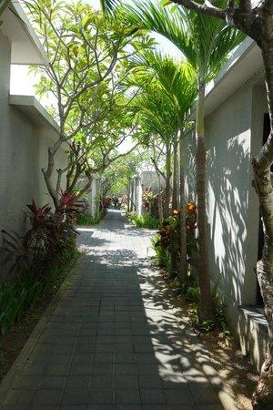 La Villais Exclusive Villa & Spa: central walkway to villas